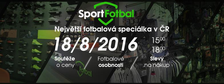 SportFotbal - oficiální otevření nové prodejny